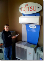 Ductless heat pump system